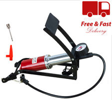 FOOT PUMP WITH PRESSURE GAUGE AIR INFLATOR CAR BIKE TYRE AIRBEDS BICYCLE UK