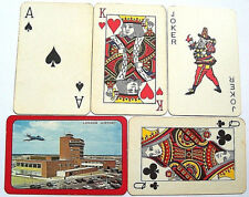 LONDON HEATHROW AIRPORT VINTAGE PLAYING CARDS BIERMANS BELGIUM 1950s