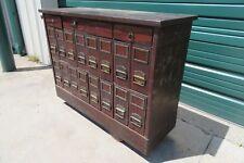 Vintage Industrial Gunsmith Rolling Parts File Cabinet Metal Storage Cart Table