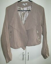 Ladies Temt Size 12 Top Jacket long Sleeve Drape Front Lined Short