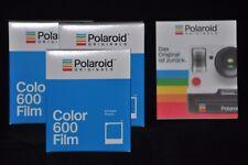 3 envases Polaroid Originals film for/para 600 Camera cámara color White Frame