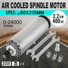 【UK/EU】 2.2KW 220V Spindle Motor Air Cooled 400Hz ER20 80mm 24000rpm CNC Router