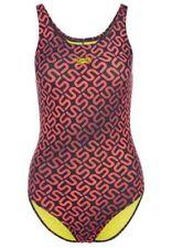Speedo Ladies Black Grey Pink Swimsuit Women Monogram Swim Size 12 / 34 BNWT