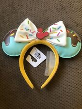 New Disney Sweet Treats Ice Cream Loungefly Minnie Mouse Ears Headband
