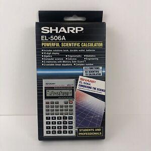 Vintage Sharp Scientific Calculator EL-506a NEW NOS (Open Box) W/ Case & Manuals