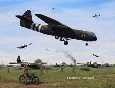 Airspeed Horsa Glider Pilot Regiment Arnhem Aircraft Painting Art Print