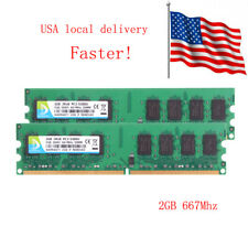 4GB 2GB x2 PC2-5300U RAM DIMM 667Mhz 2Rx8 DDR2 For Desktop Memory US SHIPPING