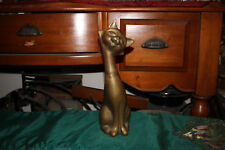 Large Brass Metal Smiling Cheshire Cat