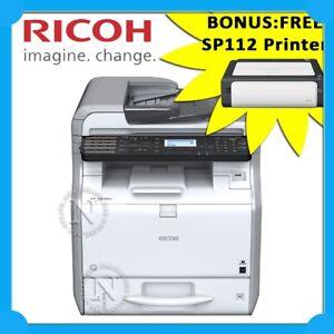 Ricoh SP3610SF 3in1 B&W MFP Laser Printer+FREE BONUS: SP112 Printer (RRP$1139)