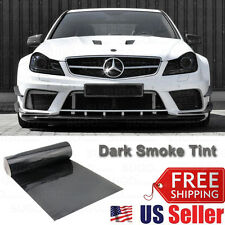 "12""x48"" Dark Smoke Tint Film Lens Vinyl Wrap Sheet Sticker Tail Light Head Lamp"