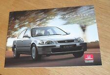 Honda Civic 4 Door Brochure 1995-1996 - 1.5i LS & 1.6 VTi - UK Market