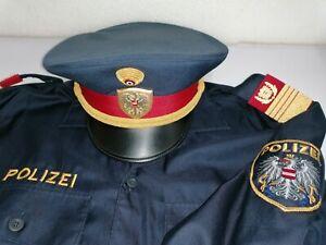 Polizei Österreich Offizier Oberst Hemd und Tellerkappe Colonel Austria Police