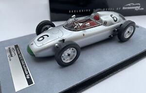 PORSCHE 718 F2 race car Solitude GP 1960 Graham Hill 1:18th Tecnomodel TM18-136D