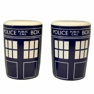 Dr Who Salt and Pepper Tardis Shakers