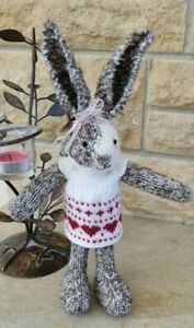 Hand Knitted Rabbit Toy