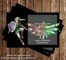 Legend of Zelda Birthday Party Invitation - 15 Printed W/envelopes