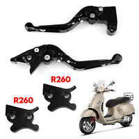 Motorcycle Adjustable Clutch Brake Lever Fits VESPA GTS 300 Super Black