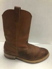 Wellington Pull-On Steel Toe Work Boots, Mens 8.5 EEE Brown