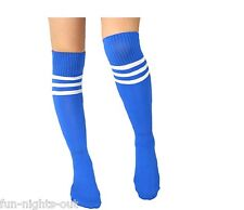Womens Thigh High Sexy Blue 118 Football Referee Over the Knee Sock Fancy Dress