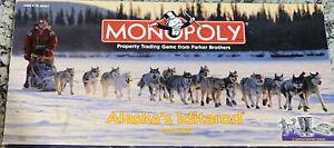 Monopoly Alaska's Iditarod Edition Dog Sledding Complete 1998 RARE!! 8 Tokens!!