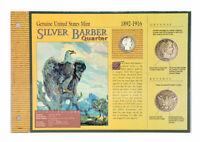 1892-1916 Silver Barber Quarter & 1976 JFK Silver Half Dollar