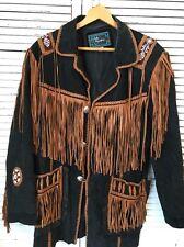 Echo Mountain Suede Beaded Fringe Native American Jacket Men's 42
