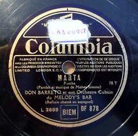 """Don Barreto - Marta - Beguin-Biguine - Columbia - /10"""" 78 RPM"""