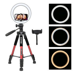 """Zomei 10"""" LED Ring Light With 47inch Q111 Tripod For Live Stream Selfie Photo"""