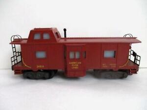 Vtg Railroad Train Car American Flyer Bay Window Caboose #24619