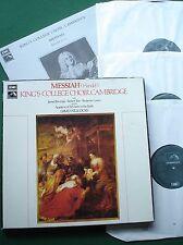 Handel Messiah Kings College Choir Cambridge Willcocks SLS 845 Box Set LP x 3