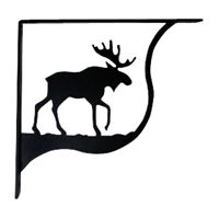 Black MOOSE Wrought Iron Shelf Brackets for Wall Mounted Shelves - 3 SIZES AVAIL