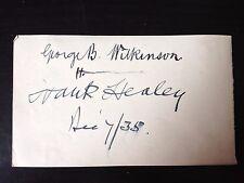 FRANK HEALEY / GEORGE WILKINSON - OPERA SINGERS - SIGNED VINTAGE ALBUM PAGE