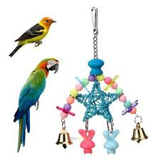 Pet Bird Parrot Swing Cage Ladder Toy Chew Bites for Parakeet Cockatiel Conure