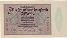 Notgeld: RBN, 500 TM.,Rosenb.87b, KN 8 Stell.,2x VS+RS, Erh. I-/II+ . s. Scann