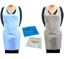 100 Disposable Blue White Aprons Amazing Quality Free Next Day Shipping