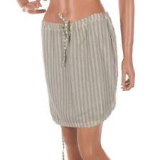 Cotton Blend Mini Striped Regular Size Skirts for Women