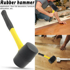 Durable Rubber Hammer Double Face Non Slip Handle Tiling Mallet Well new UVB