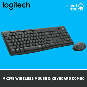 Logitech MK295 Silent smart Wireless Keyboard and Mouse Combo for PC,MAC,IOS