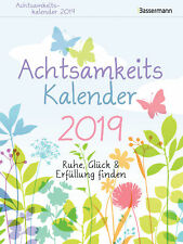 Achtsamkeitskalender 2019 Kalender von Nina Andres (04.06.2018, Abreißkalender)