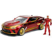 Jada Toys Hollywood Rides Avengers Iron Man 2016 Chevy Camaro Die Cast Car NEW