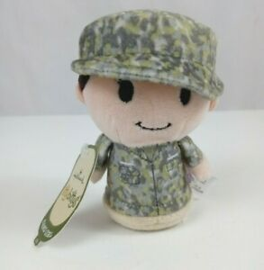 "NWT Hallmark Itty Bittys Camo Girl Army USMC American Soldier Uniform 4.5"" Plush"