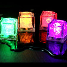 12pcs LED Ice Cubes Color Water Change Sensor Light For Romantic Wedding Party *