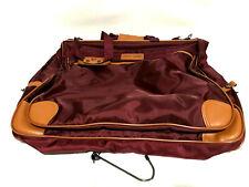 "Pierre Cardin VTG Dark Burgundy and Tan Garment Suit Bag 22"" x 42"" Brand New!!!"