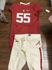 Alabama Crimson Tide Nike Pro Combat Game Worn/Issued Football Jersey & Pants