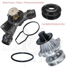 Water Pump  + Pulley +  Thermostat Assembly for BMW E46 3 Series X5 Z3 3.0i New