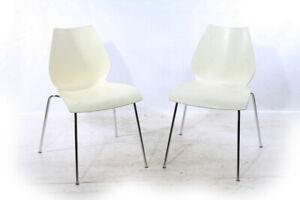 1x Stuhl Maui Vico Magistretti Kartell Sessel Chair Designer vintage