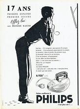 Publicité Advertising  038  1956   rasoir éléctrique Philips