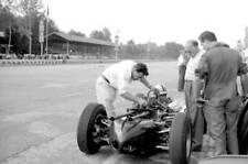 MOTOR RACING OLD PHOTO John Cooper Looking At Engine Of Cooper V8 Reg Parnell