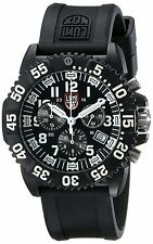 Luminox Navy Seal Black Dial PC Silicone Quartz Chronograph Gent Watch 3081