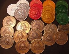 Bronze AA Aluminum Medallions 1, 2, 3, 4, 5, 6, 7, 8, 9,10 Year 26 Lot coin chip